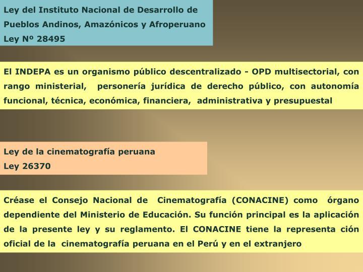 Ley del Instituto Nacional de Desarrollo de Pueblos Andinos, Amazónicos y Afroperuano