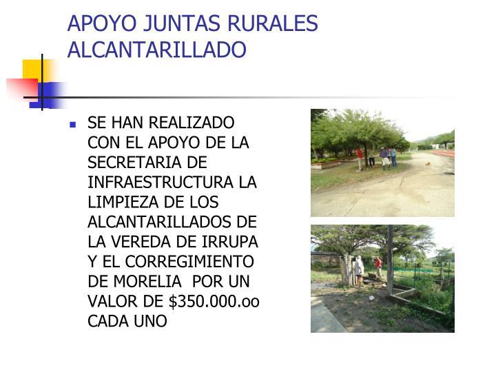 APOYO JUNTAS RURALES ALCANTARILLADO