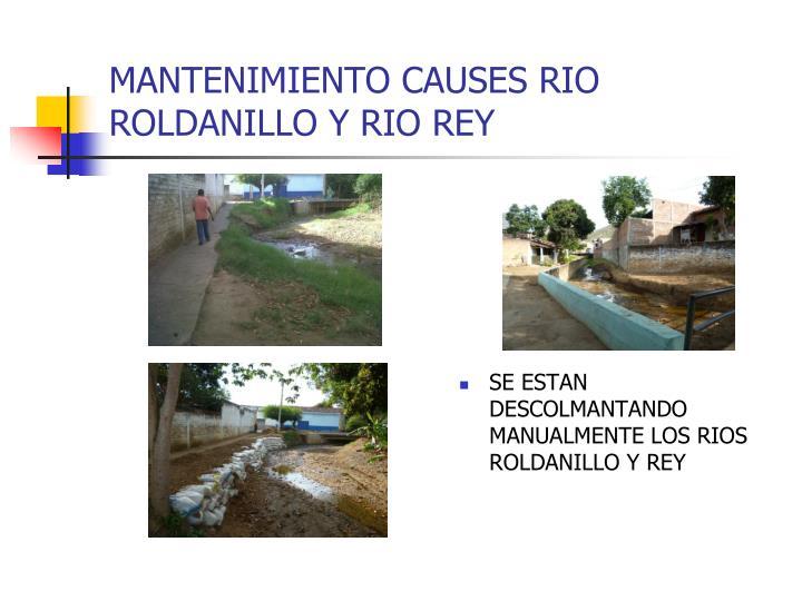 MANTENIMIENTO CAUSES RIO ROLDANILLO Y RIO REY