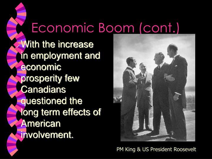Economic Boom (cont.)