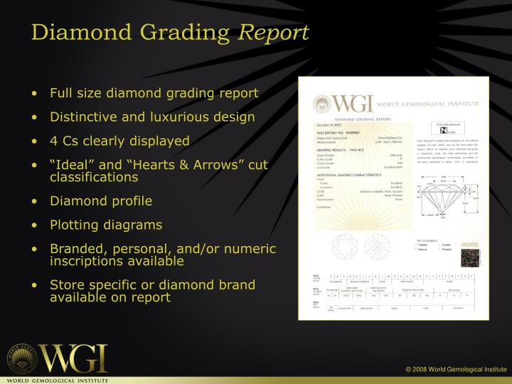 Full size diamond grading report