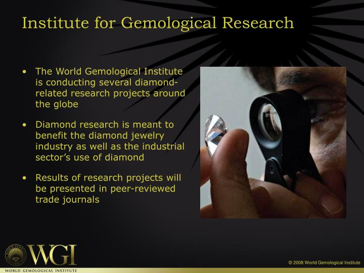 Institute for gemological research
