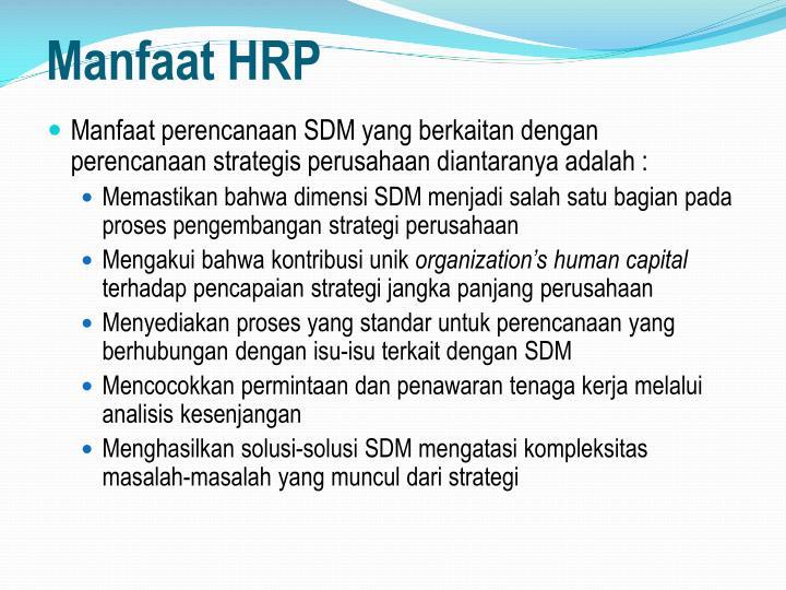 Manfaat HRP