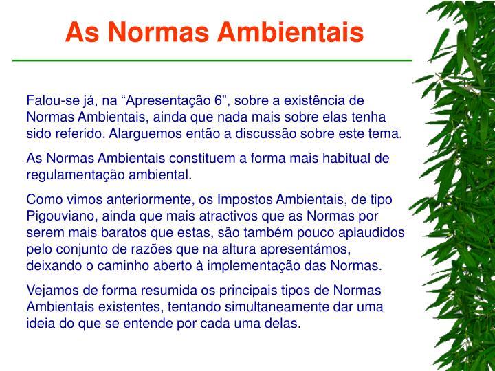 As Normas Ambientais