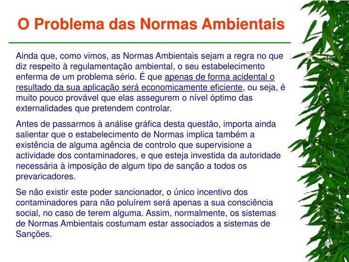 O Problema das Normas Ambientais