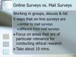 online surveys vs mail surveys