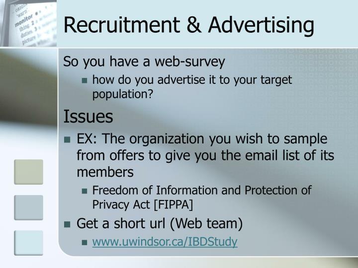 Recruitment & Advertising
