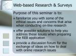 web based research surveys1