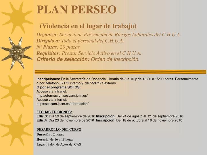PLAN PERSEO