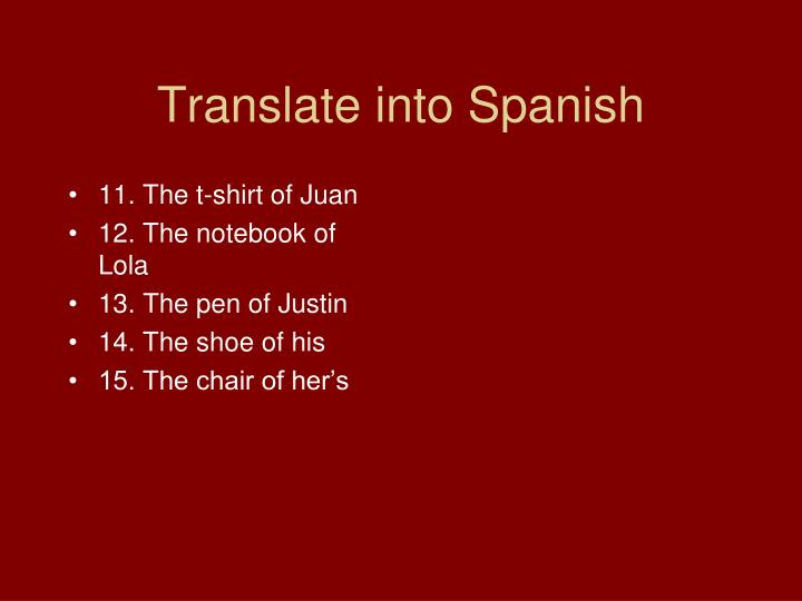 11. The t-shirt of Juan