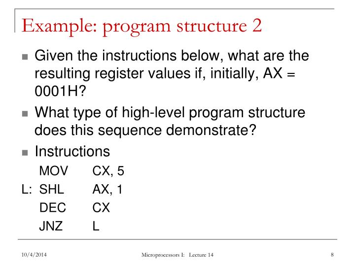 Example: program structure 2