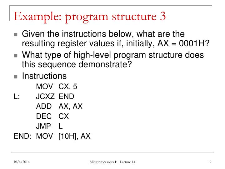 Example: program structure 3