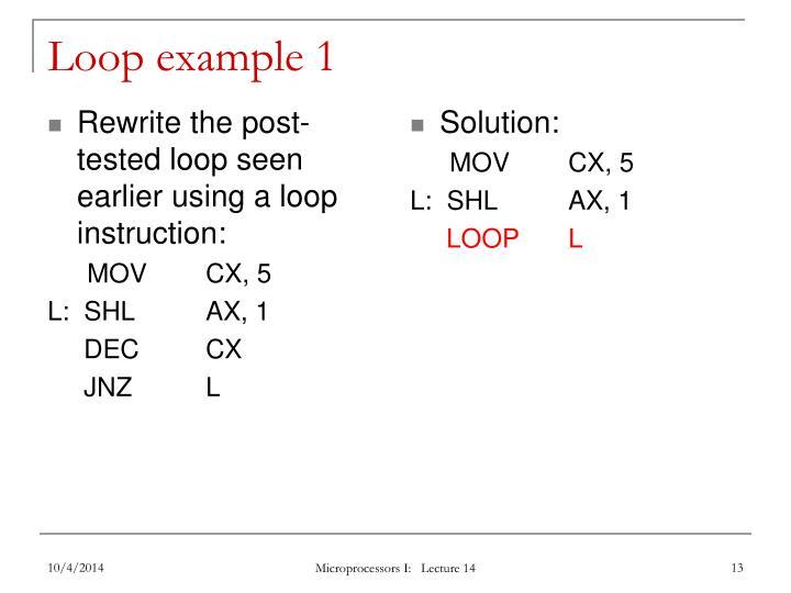 Loop example 1