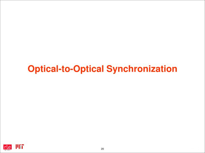 Optical-to-Optical Synchronization