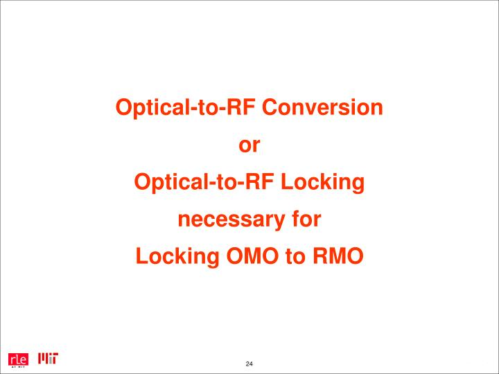 Optical-to-RF Conversion