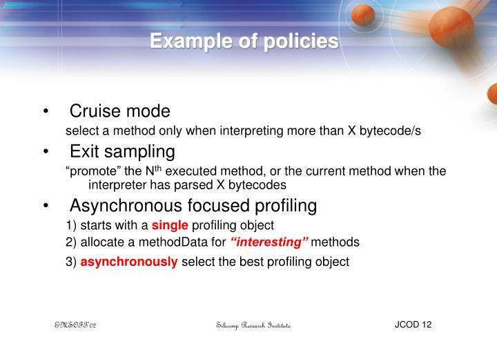 Example of policies