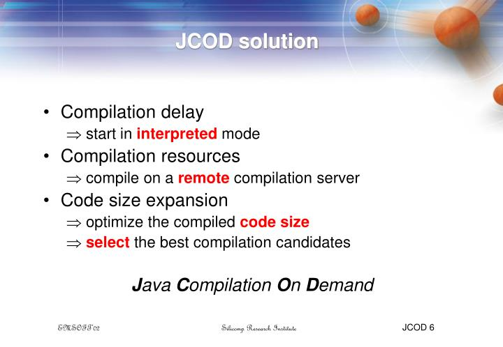 JCOD solution