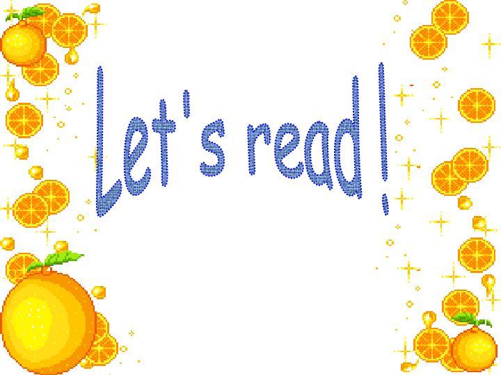 Let's read !