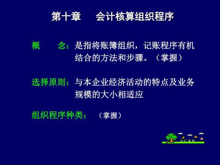 第十章   会计核算组织程序
