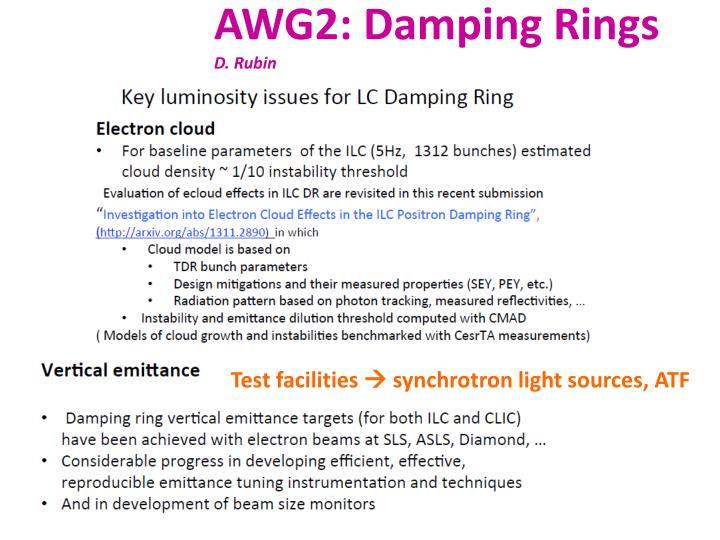 AWG2: Damping Rings