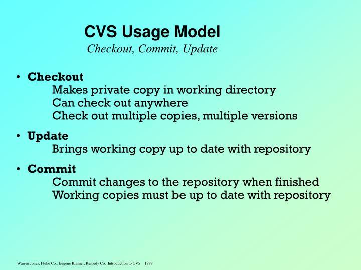 CVS Usage Model