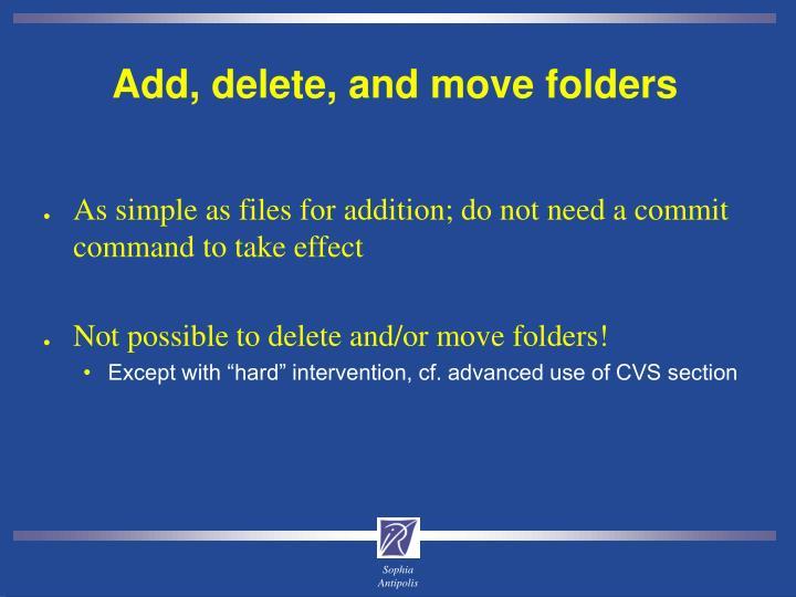 Add, delete, and move folders