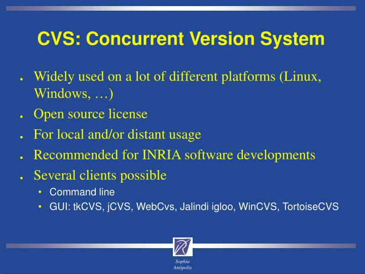 CVS: Concurrent Version System