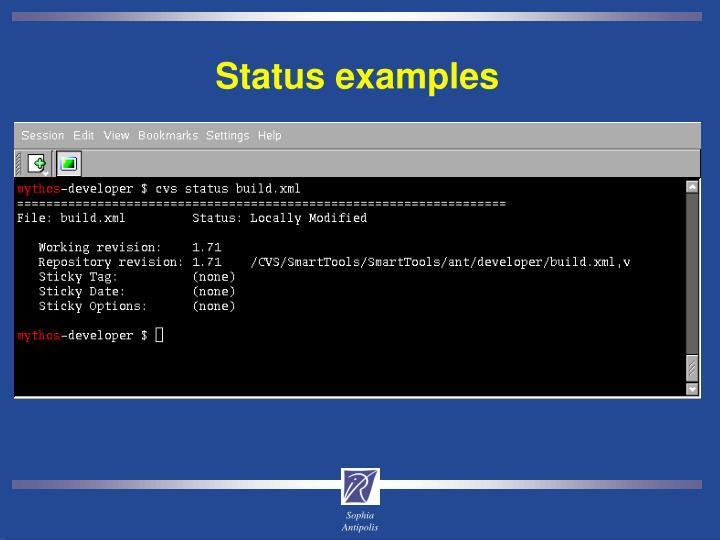 Status examples