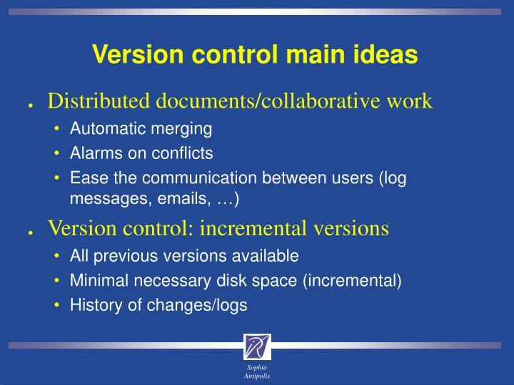 Version control main ideas