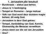 1 jerusalem die leeukuil