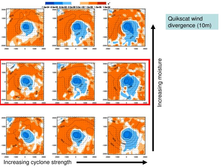 Quikscat wind divergence (10m)