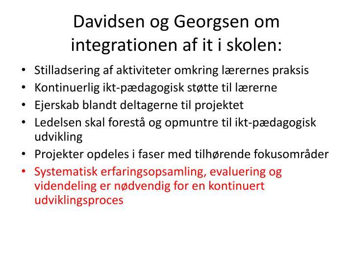 Davidsen og Georgsen om integrationen af it i skolen: