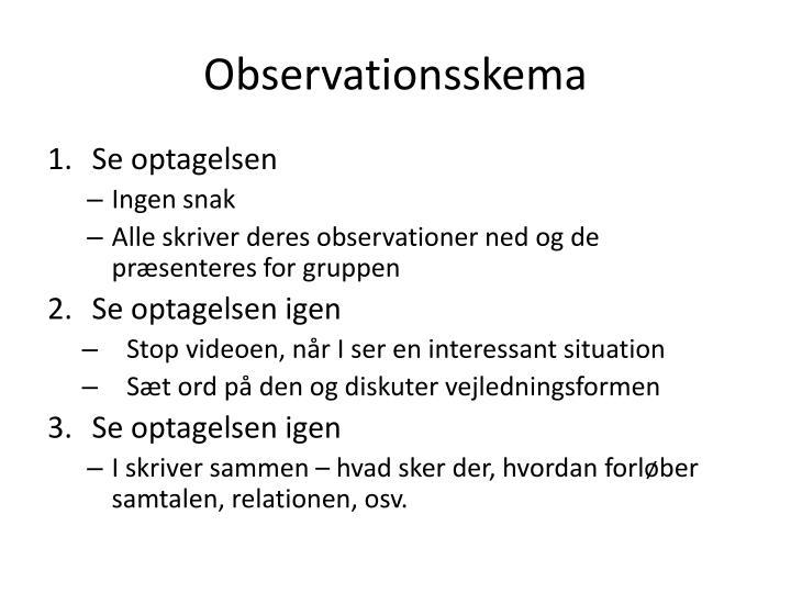 Observationsskema