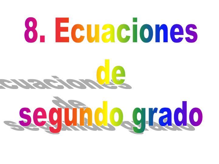 8. Ecuaciones