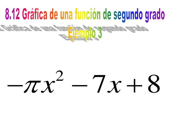 8.12 Gráfica de una función de segundo grado