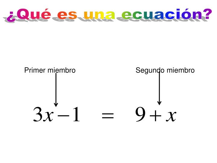 ¿Qué es una ecuación?