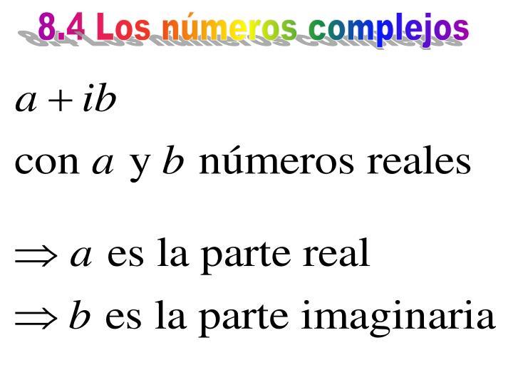 8.4 Los números complejos