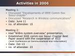 activities in 2006