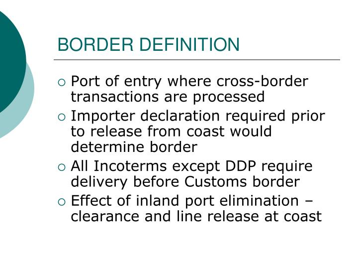BORDER DEFINITION