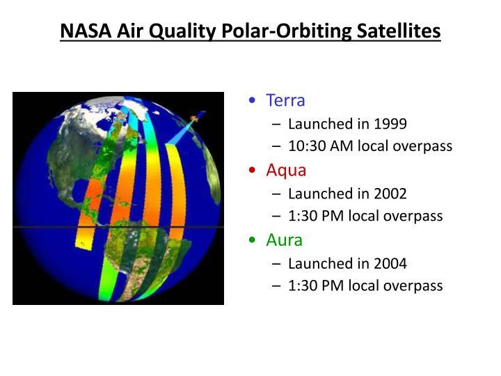 NASA Air Quality Polar-Orbiting Satellites