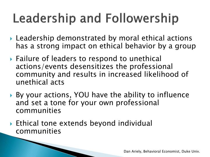 Leadership and Followership