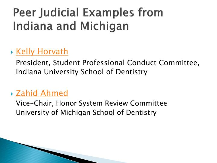 Peer Judicial Examples from