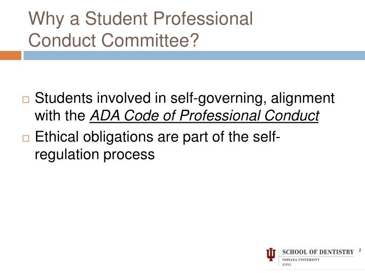 Why a Student Professional