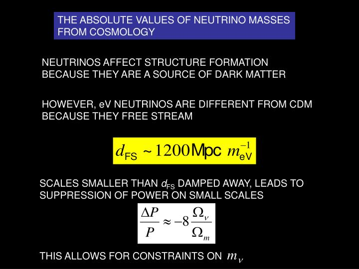 THE ABSOLUTE VALUES OF NEUTRINO MASSES