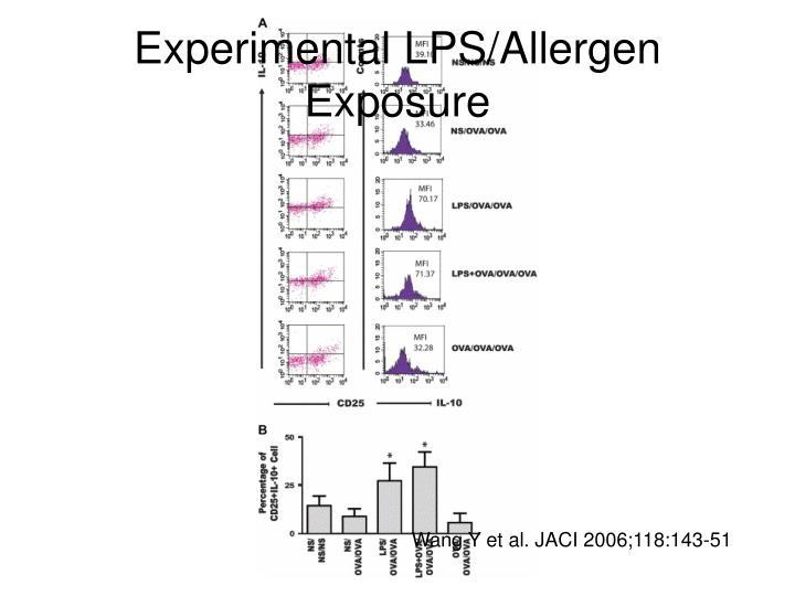 Experimental LPS/Allergen Exposure