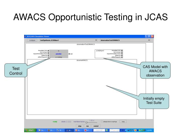 AWACS Opportunistic Testing in JCAS