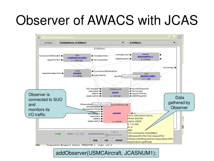 Observer of AWACS with JCAS