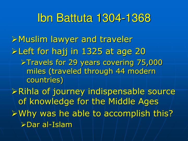 Ibn Battuta 1304-1368