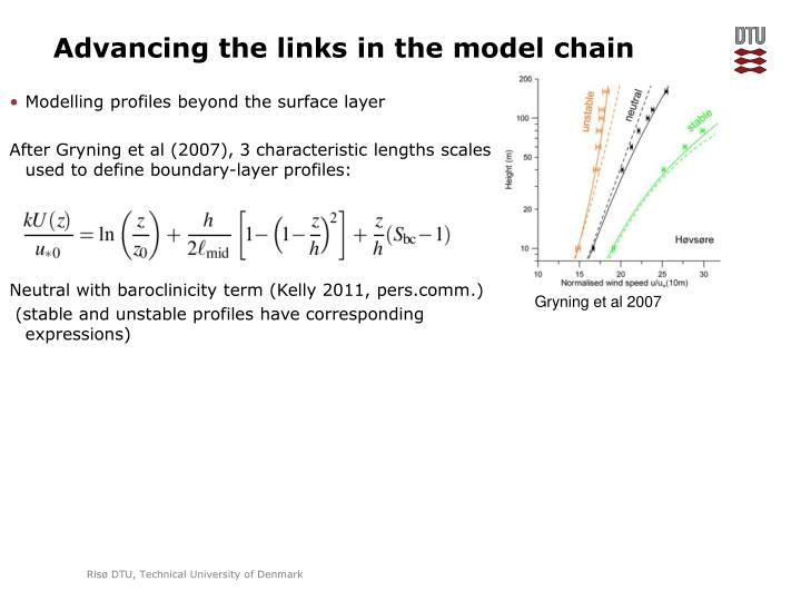 Advancing the links in the model chain