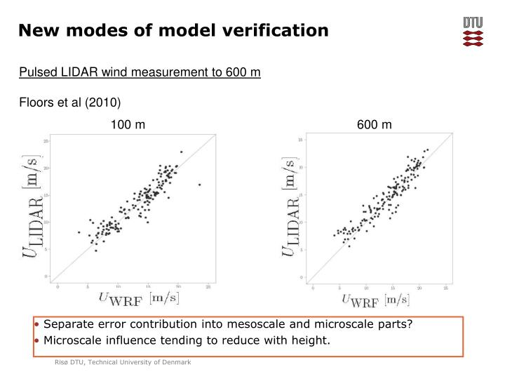 New modes of model verification